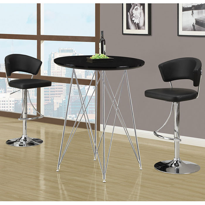 Modern Bar Tables Phoenix Black Bar Table Eurway