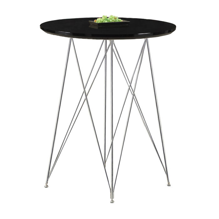 Phoenix Glossy Black Modern Bar Table
