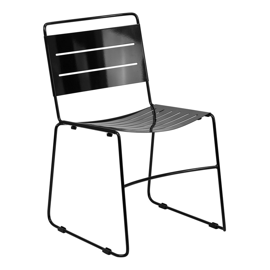 Pierce Modern Indoor/Outdoor Dining Chair in Black