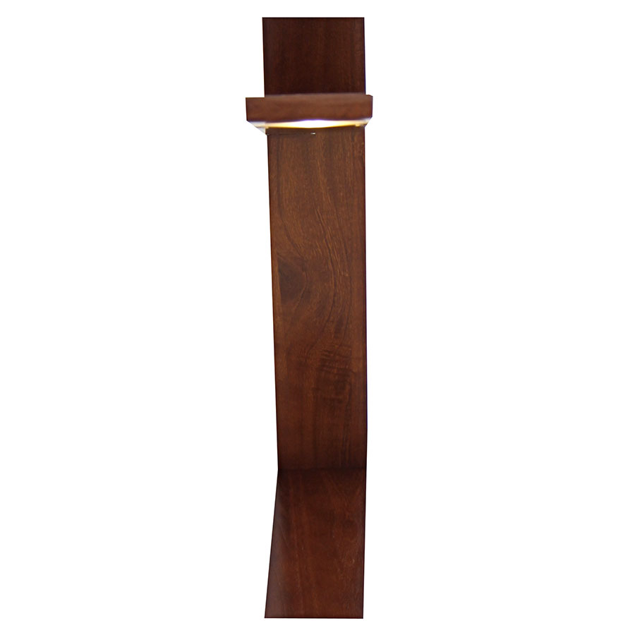Placid Walnut LED Contemporary Desk Lamp