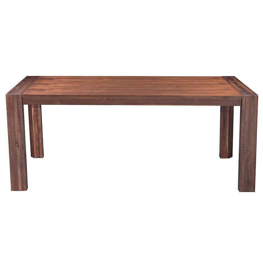 chestnut finish solid wood rectangle contemporary extension dining