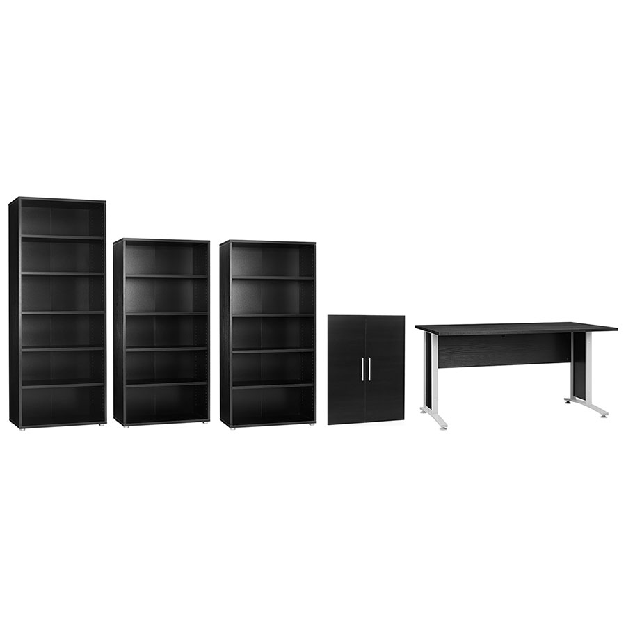 Prague Modern Black Desk Set