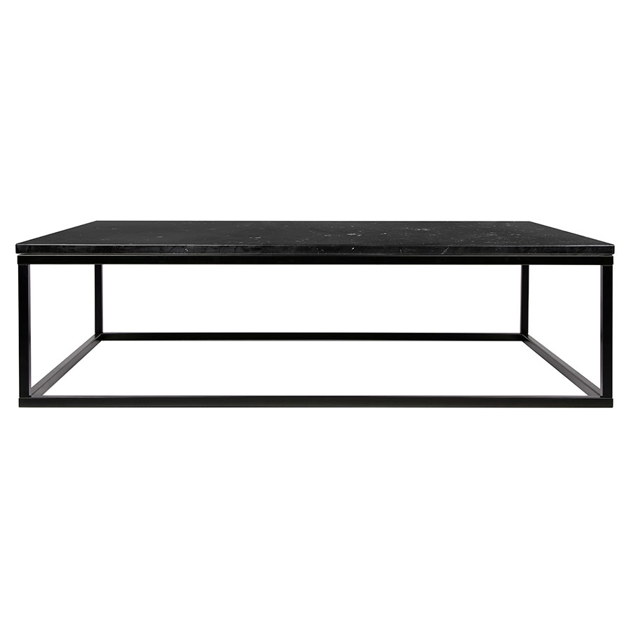 Prairie Black Marble Contemporary Coffee Table Front