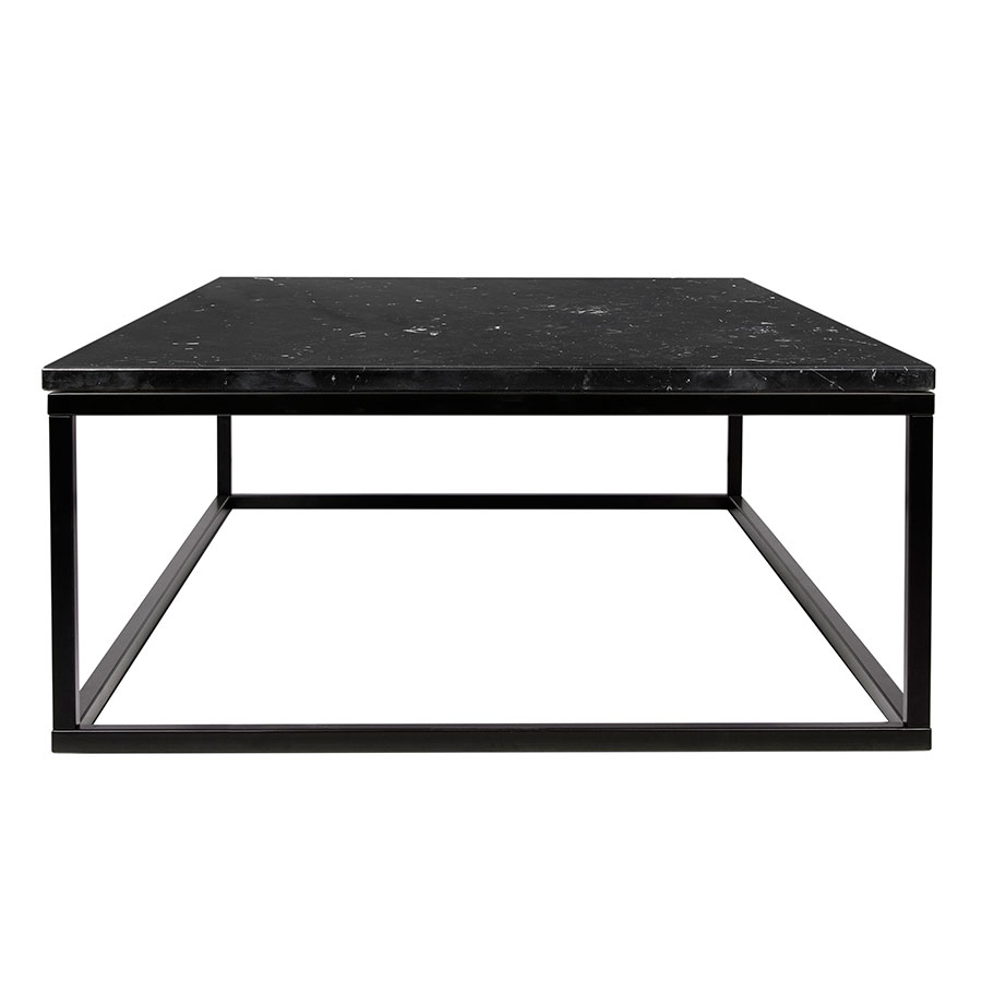 Prairie Black Marble Contemporary Coffee Table Side