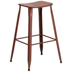 Premier Distressed Dark Red Indoor Outdoor Bar Stool