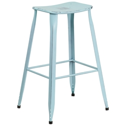 Premier Distressed Light Blue Indoor Outdoor Bar Stool