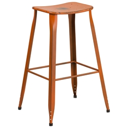 Premier Distressed Orange Indoor Outdoor Bar Stool