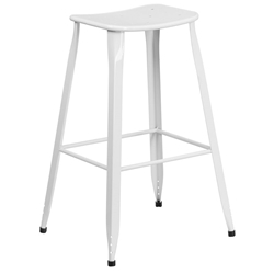 Premier White Indoor Outdoor Bar Stool