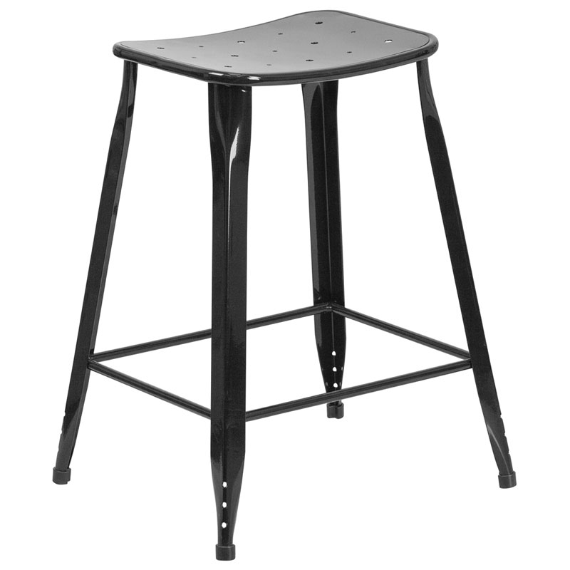 Premier Black Indoor Outdoor Counter Stool
