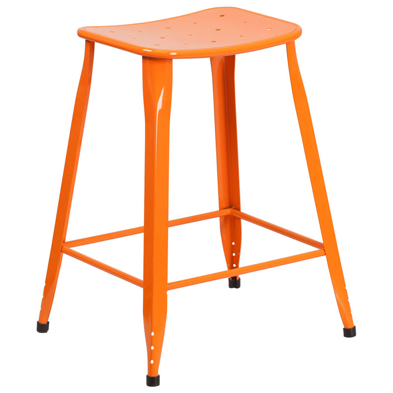 Premier Orange Indoor Outdoor Counter Stool