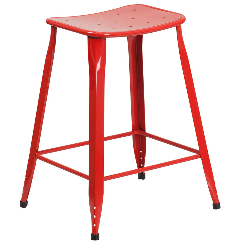 Premier Red Indoor Outdoor Counter Stool