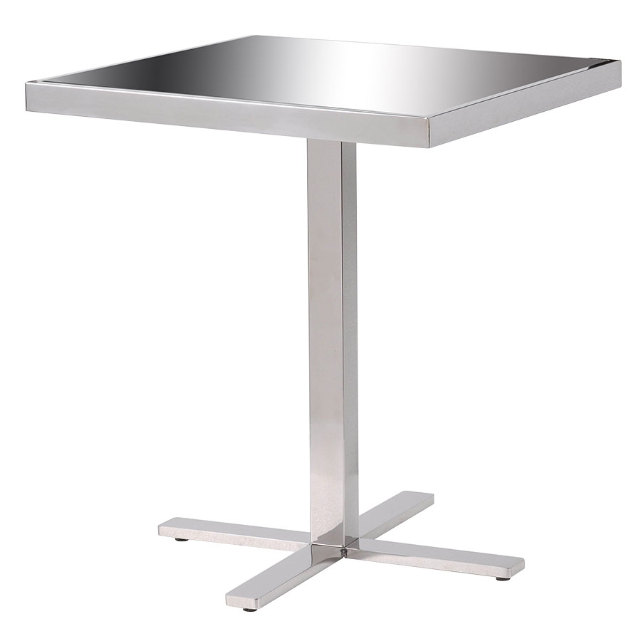 Prep Modern Stainless Steel Accent Table