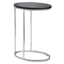 Prescott Modern Cappuccino Oval Accent Table