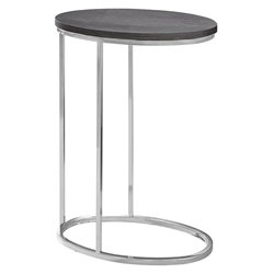 Prescott Modern Gray Oval Accent Table