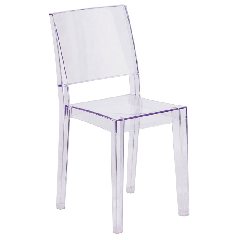 Prevail Modern Transparent Stacking Chair