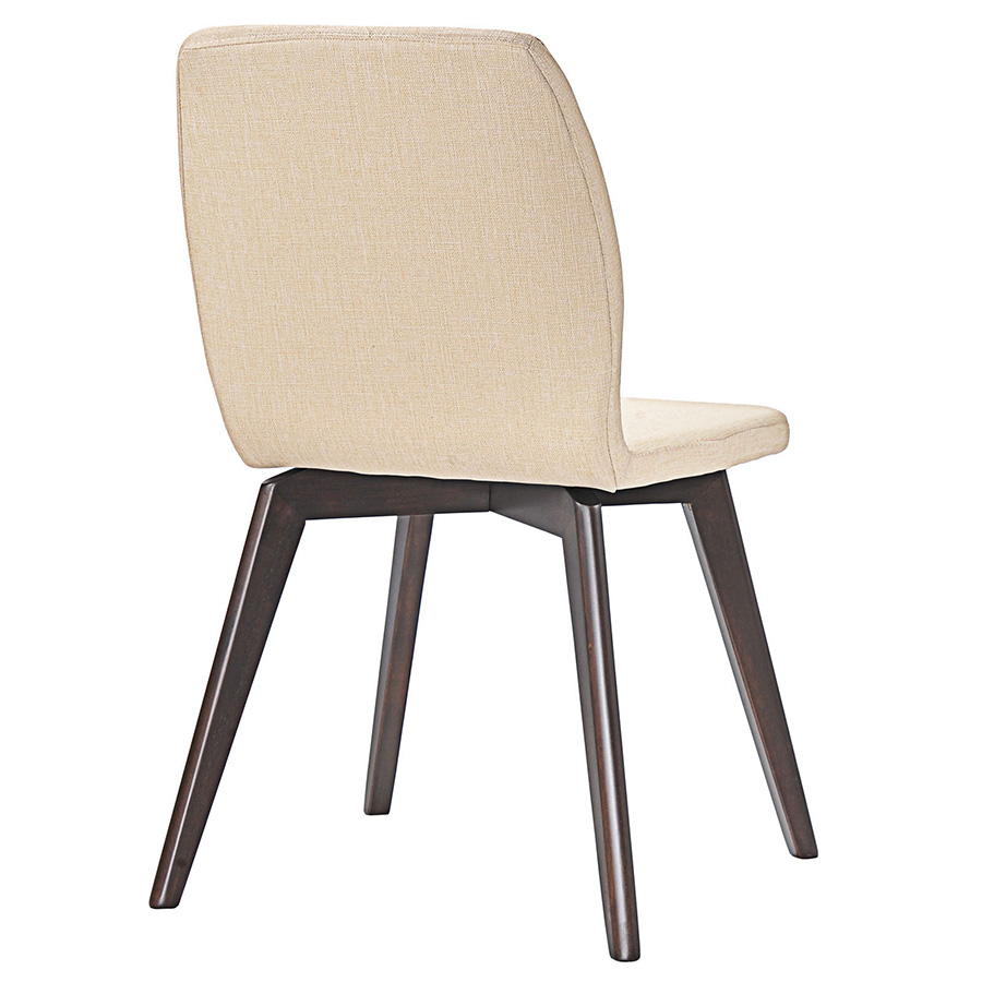 Progress Contemporary Beige Dining Chair - Back View