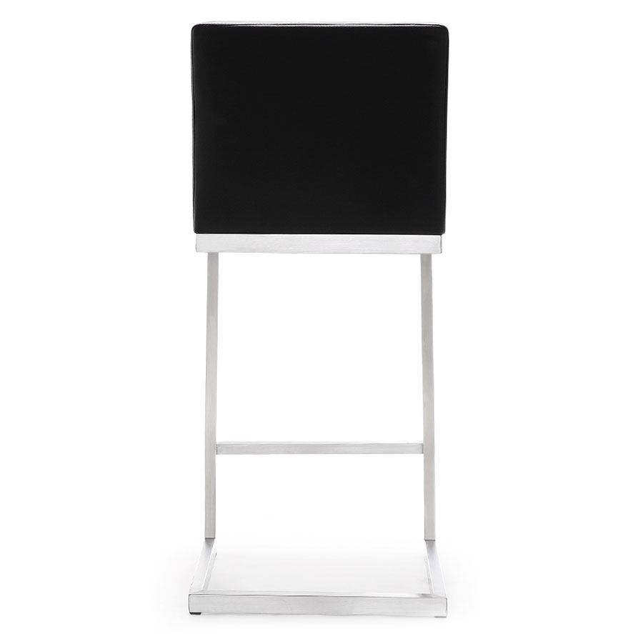 Provence Modern Black Counter Stool - Back View