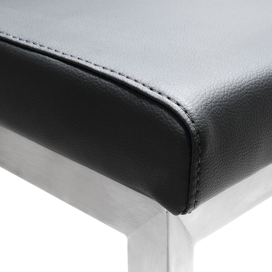 Provence Modern Black Counter Stool - Seat Detail