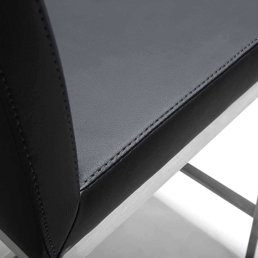 Provence Modern Black Counter Stool - Detail View