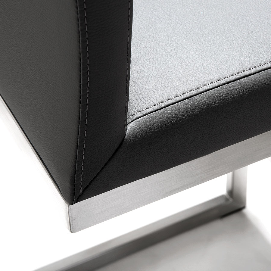 Provence Modern Gray Counter Stool - Seat Detail