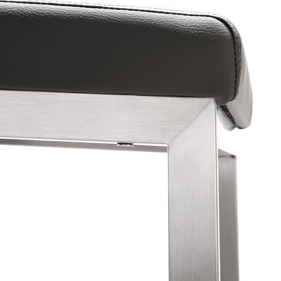 Provence Modern Gray Counter Stool - Detail View