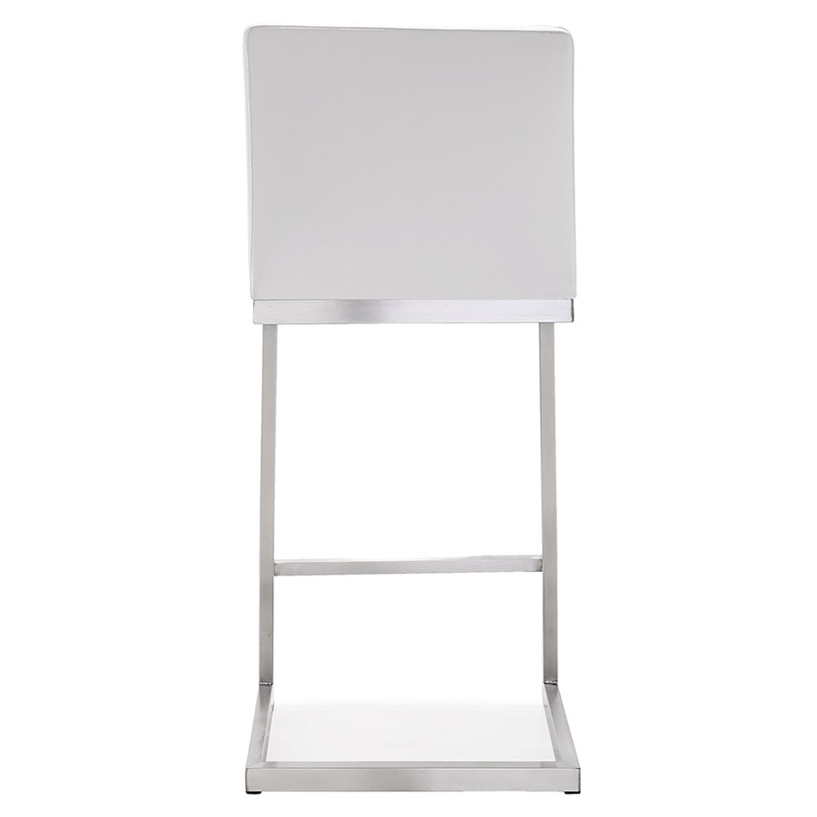 Provence Modern White Counter Stool - Back View
