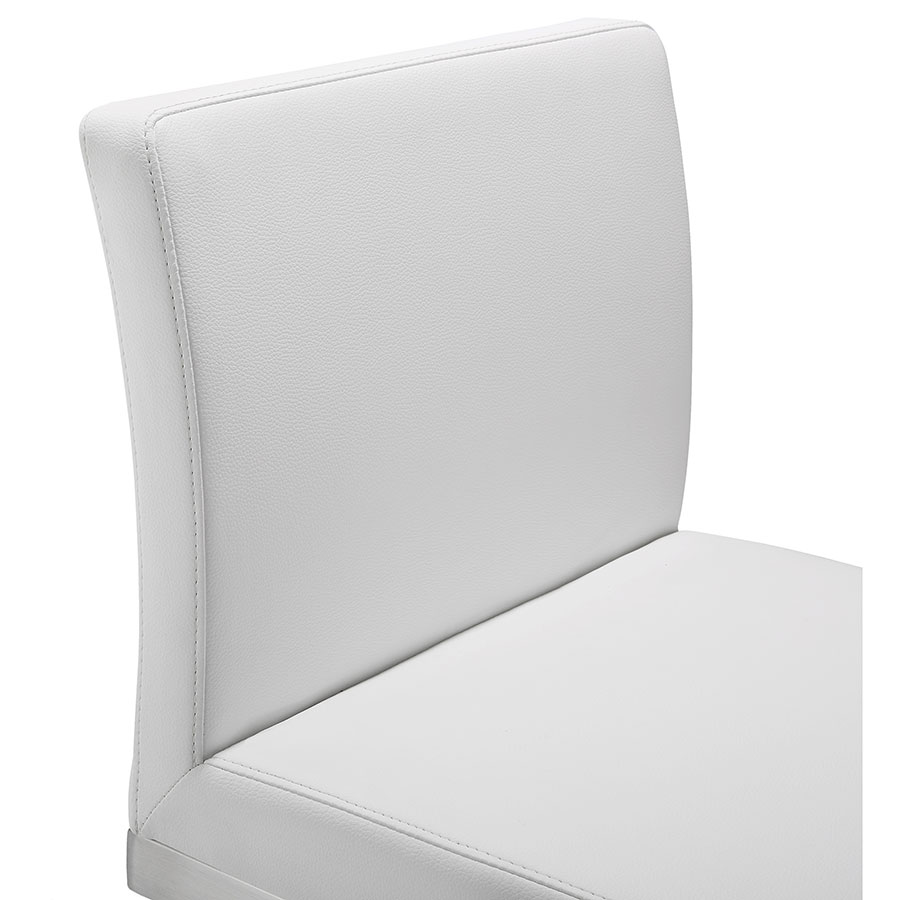 Provence Modern White Counter Stool - Backrest Detail
