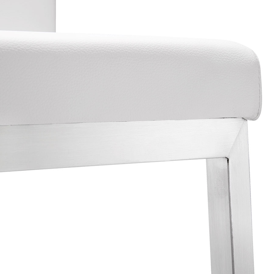 Provence Modern White Counter Stool - Detail View