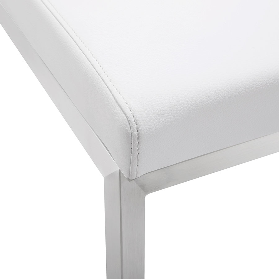 Provence Modern White Counter Stool - Seat Detail