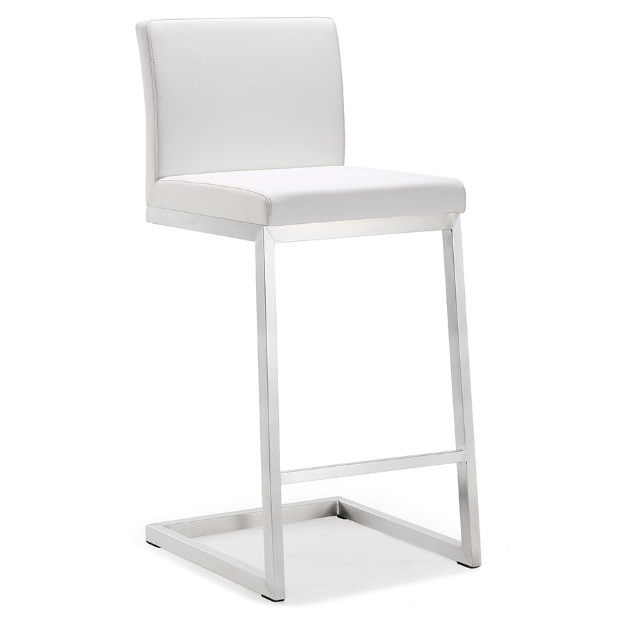 Provence Modern White Counter Height Stool