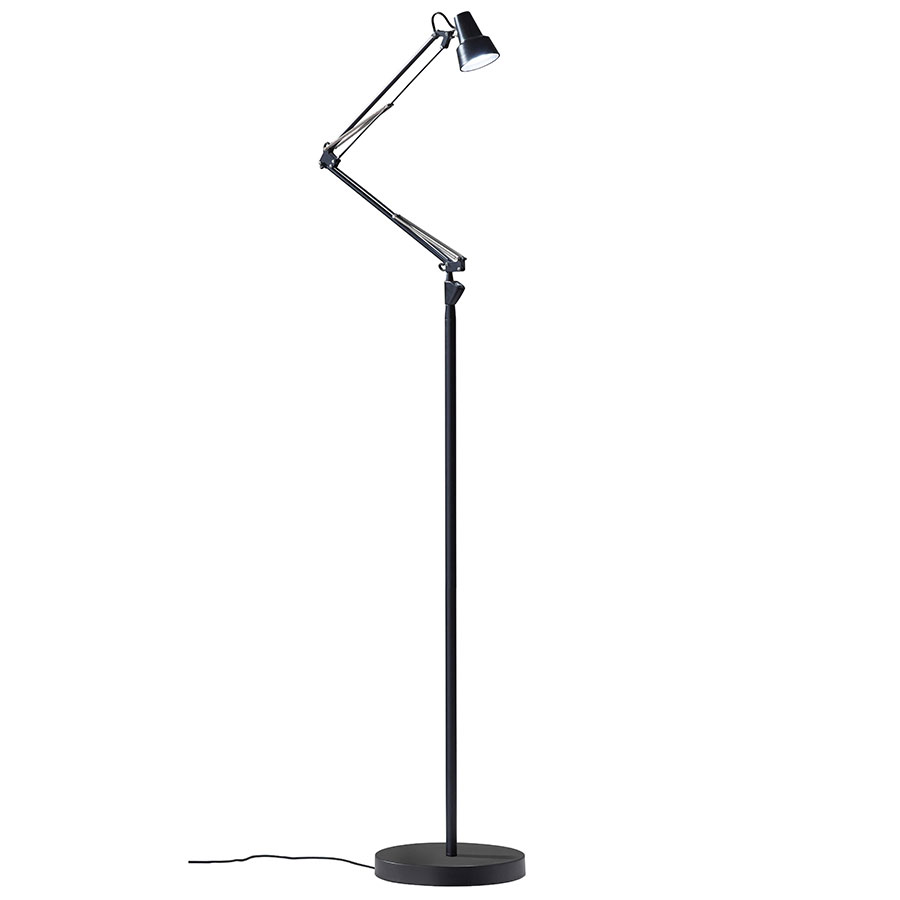 Quantum Modern LED Floor Lamp in Black