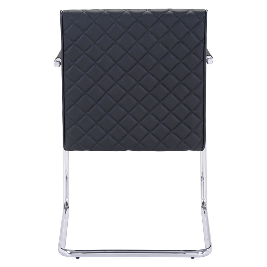 Quentin Black Quilted Contemporary Arm Chair