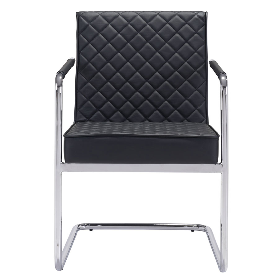 Quentin Black Contemporary Arm Chair