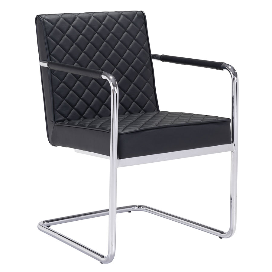Quentin Black Modern Arm Chair