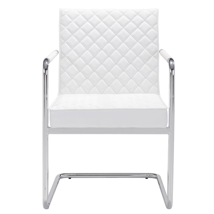 Quentin White Contemporary Arm Chair
