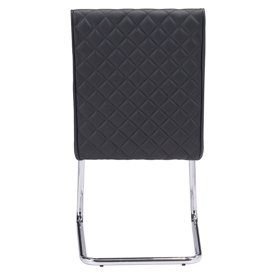 Quentin Black Quilted Contemporary Side Chair