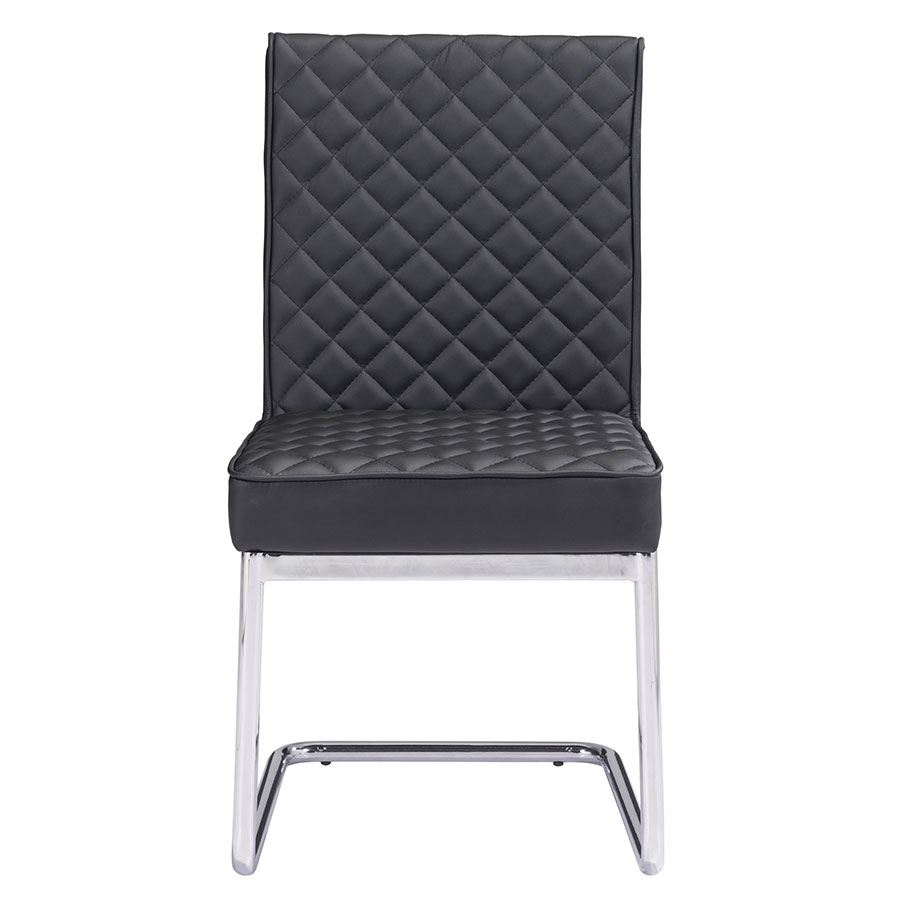 Quentin Black Contemporary Side Chair
