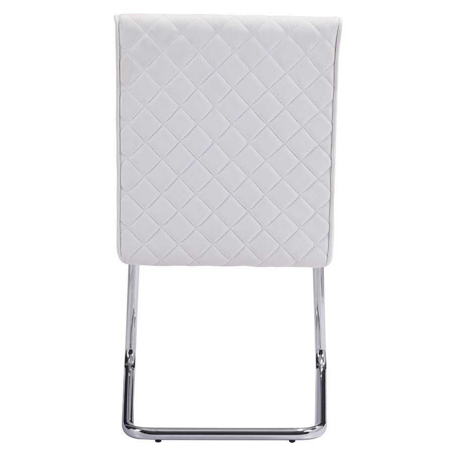 Quentin White Quilted Contemporary Side Chair