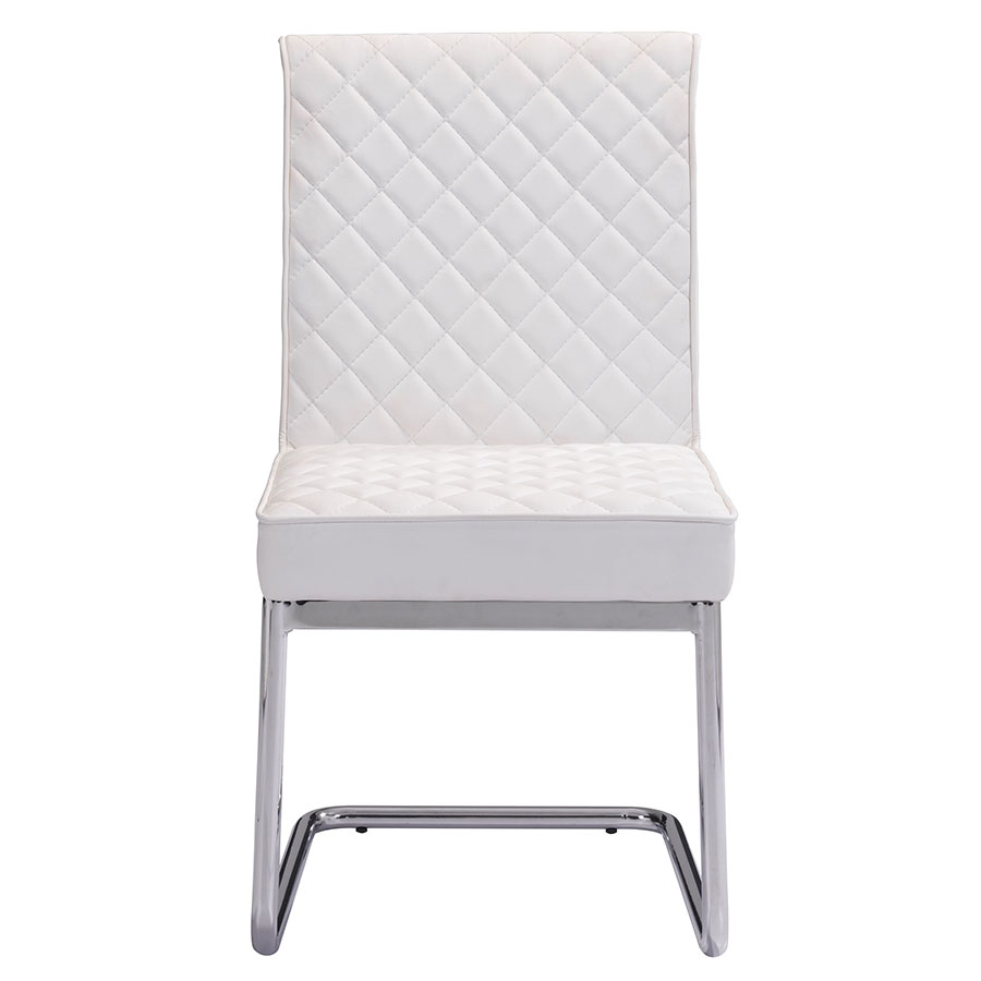 Quentin White Contemporary Side Chair