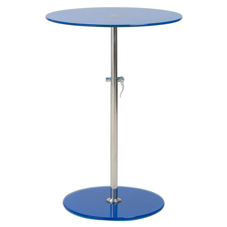 Rachel Blue Modern Adjustable End Table