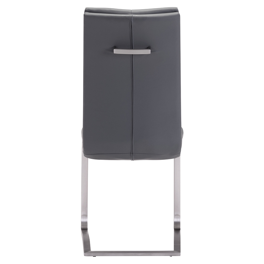 Radka Gray Leatherette Contemporary Dining Chair