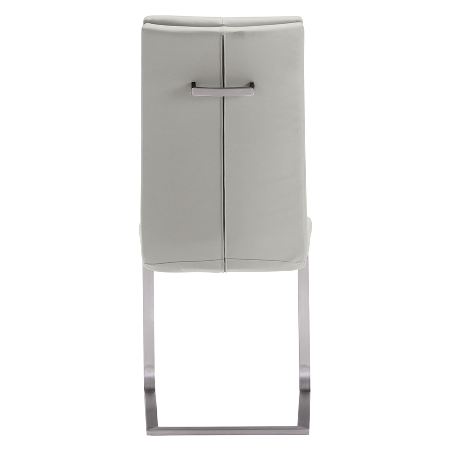 Radka Taupe Leatherette Contemporary Dining Chair