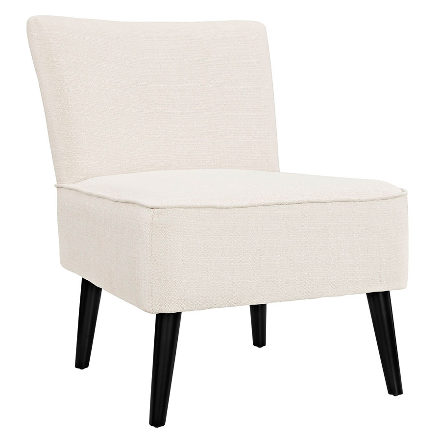 Rahm Beige Contemporary Lounge Chair