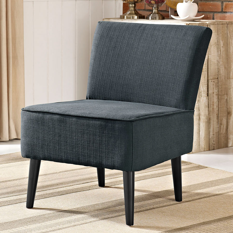Rahm Modern Gray Lounge Chair