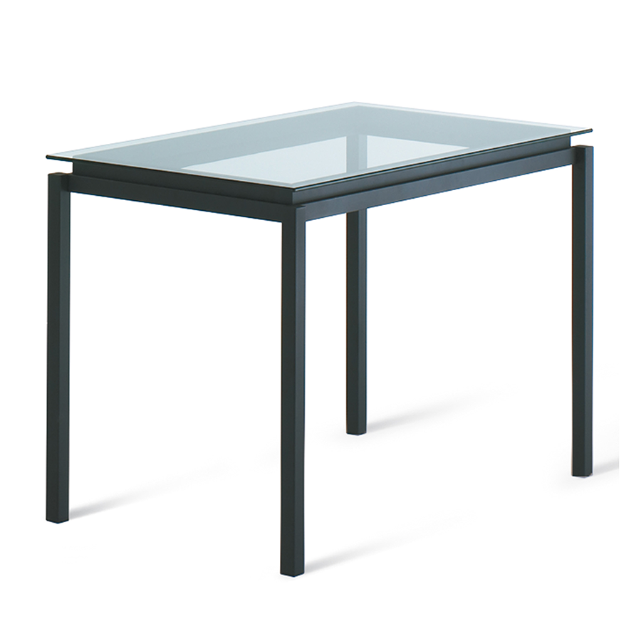 Raiden Clear Glass + Metal Modern Counter Height Table