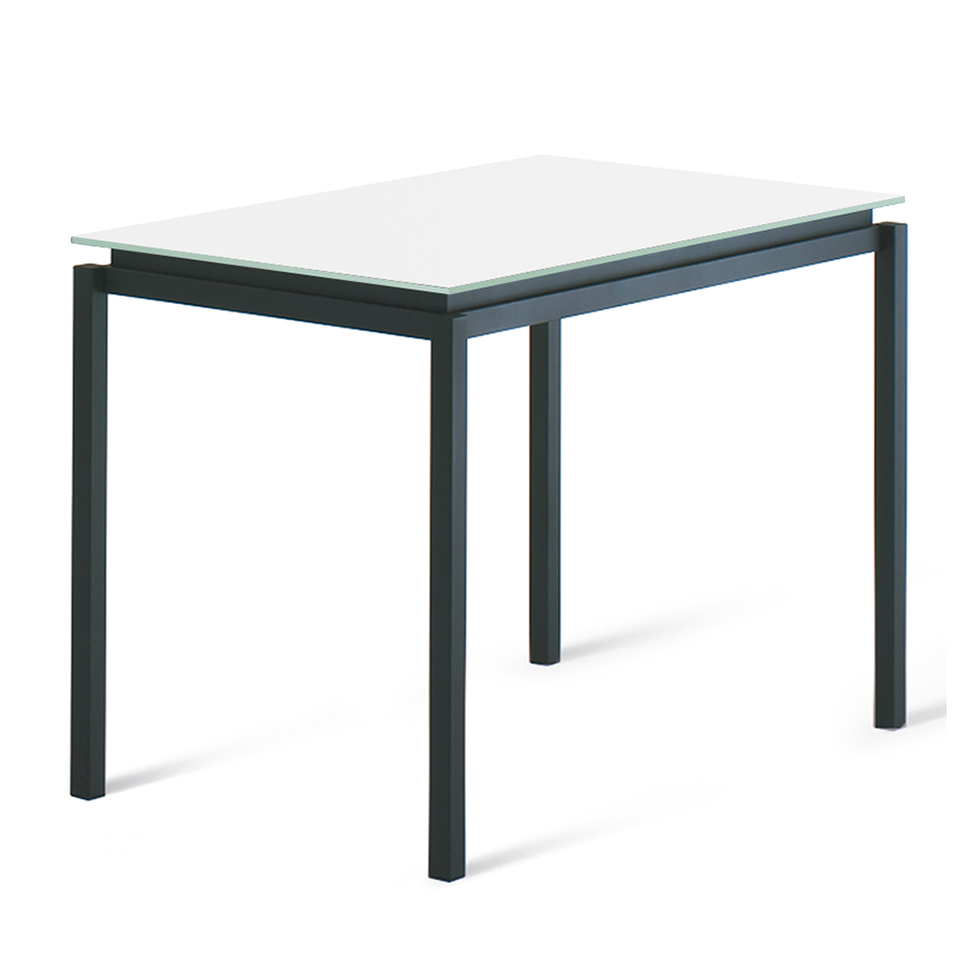 Raiden White Glass + Metal Modern Counter Height Table