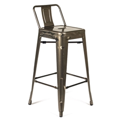 Raleigh Modern Gun Metal Low Back Counter Stool