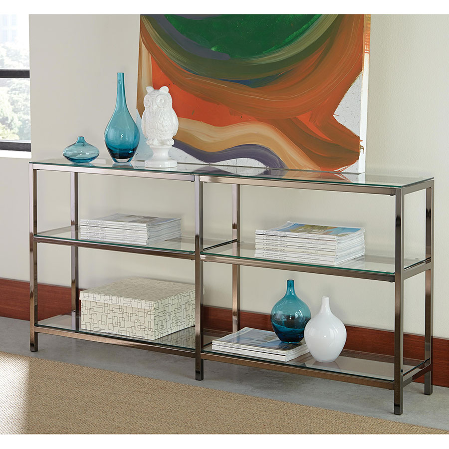 Ramsey Contemporary Glass Display Shelf + Console