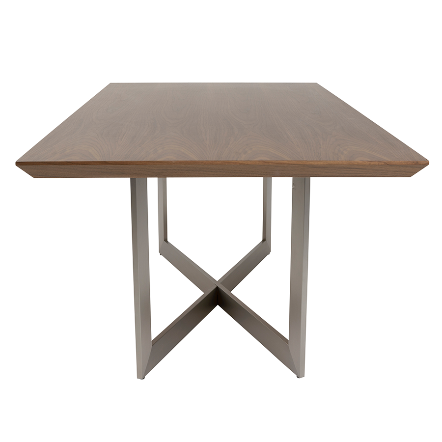 Rayden Walnut Modern Dining Table