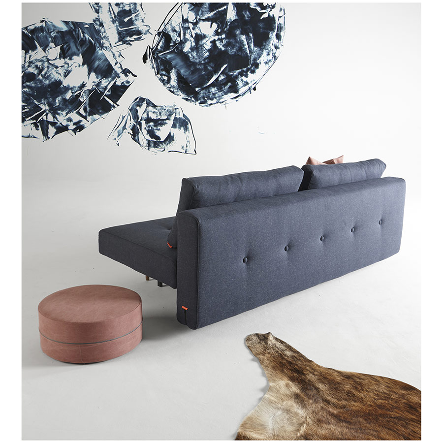 Recast Sleeper Sofa in Blue Tufted Back by Innovation